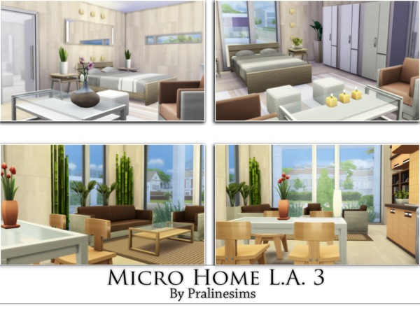 Micro Home L.A. 3 by Pralinesims