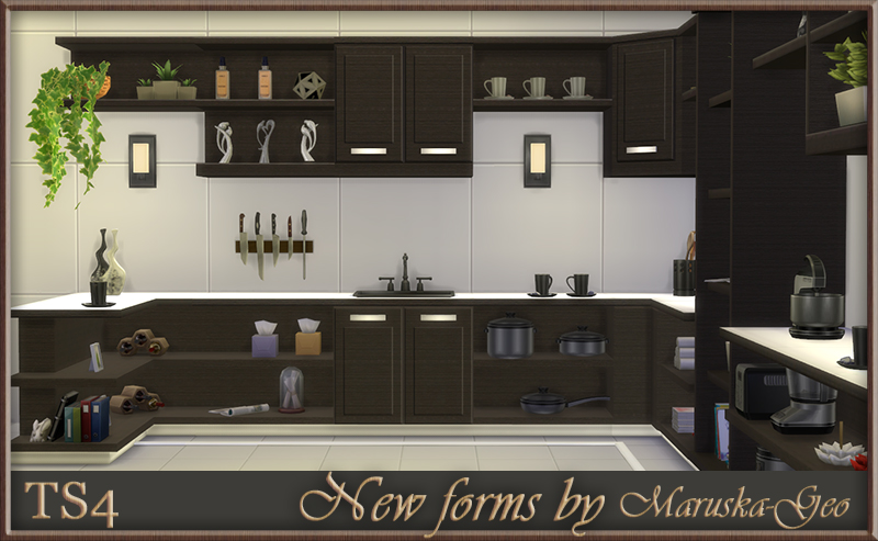 New Forms Kitchen Cabinets by MaruskaGeo