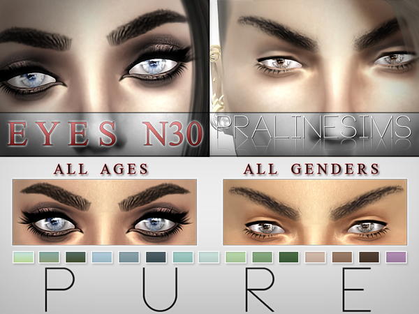 Pure Eyes  15 Colors / N30 by Pralinesims