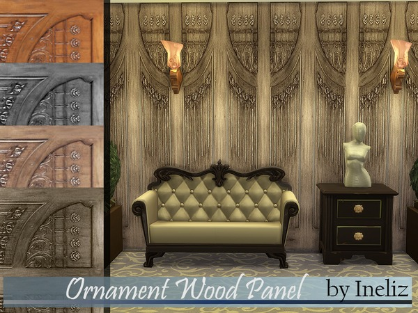 Ornament Wood Panel by Ineliz