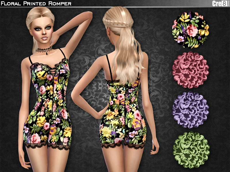 Floral Romper by Cre8Sims