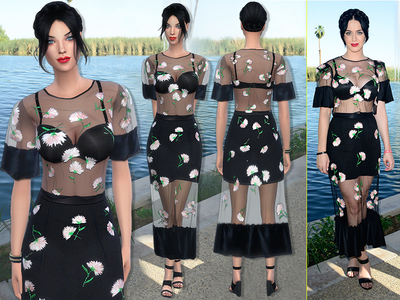 71 - Katy Perry dress by sims2fanbg