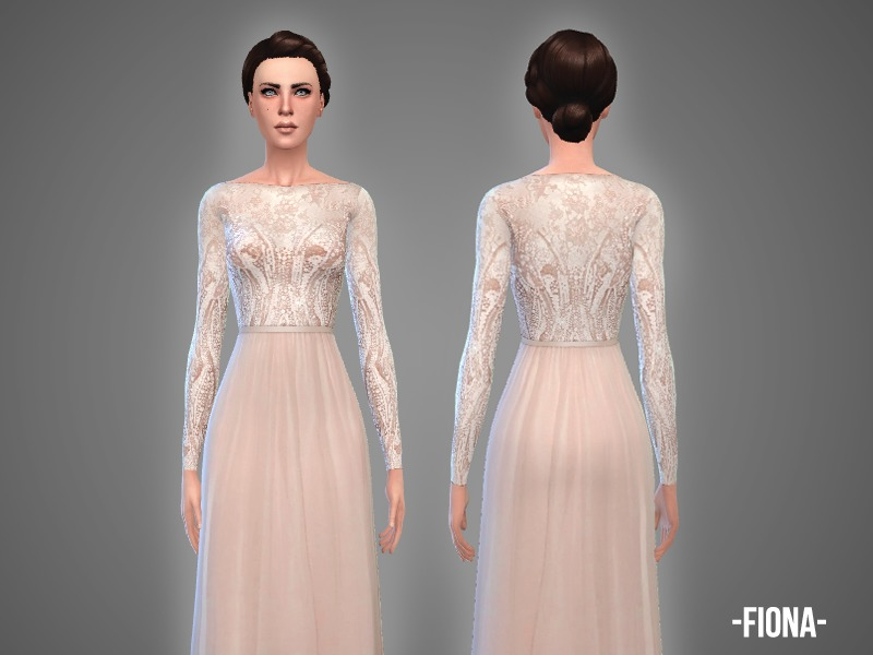 Fiona - wedding gown  by -April-