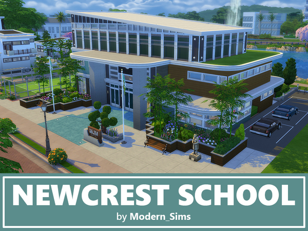 Newcrest School noCC by Modern Sims