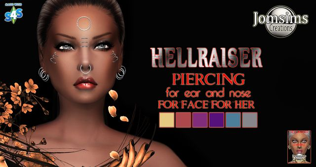 Hellraiser Piercings Set for Females by JomSims
