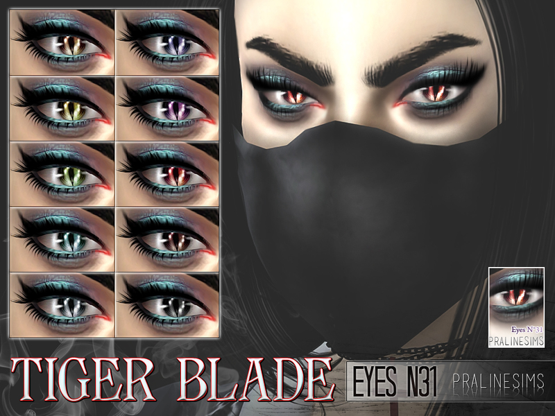 Tiger Blade Eyes  10 Colors / N31 by Pralinesims