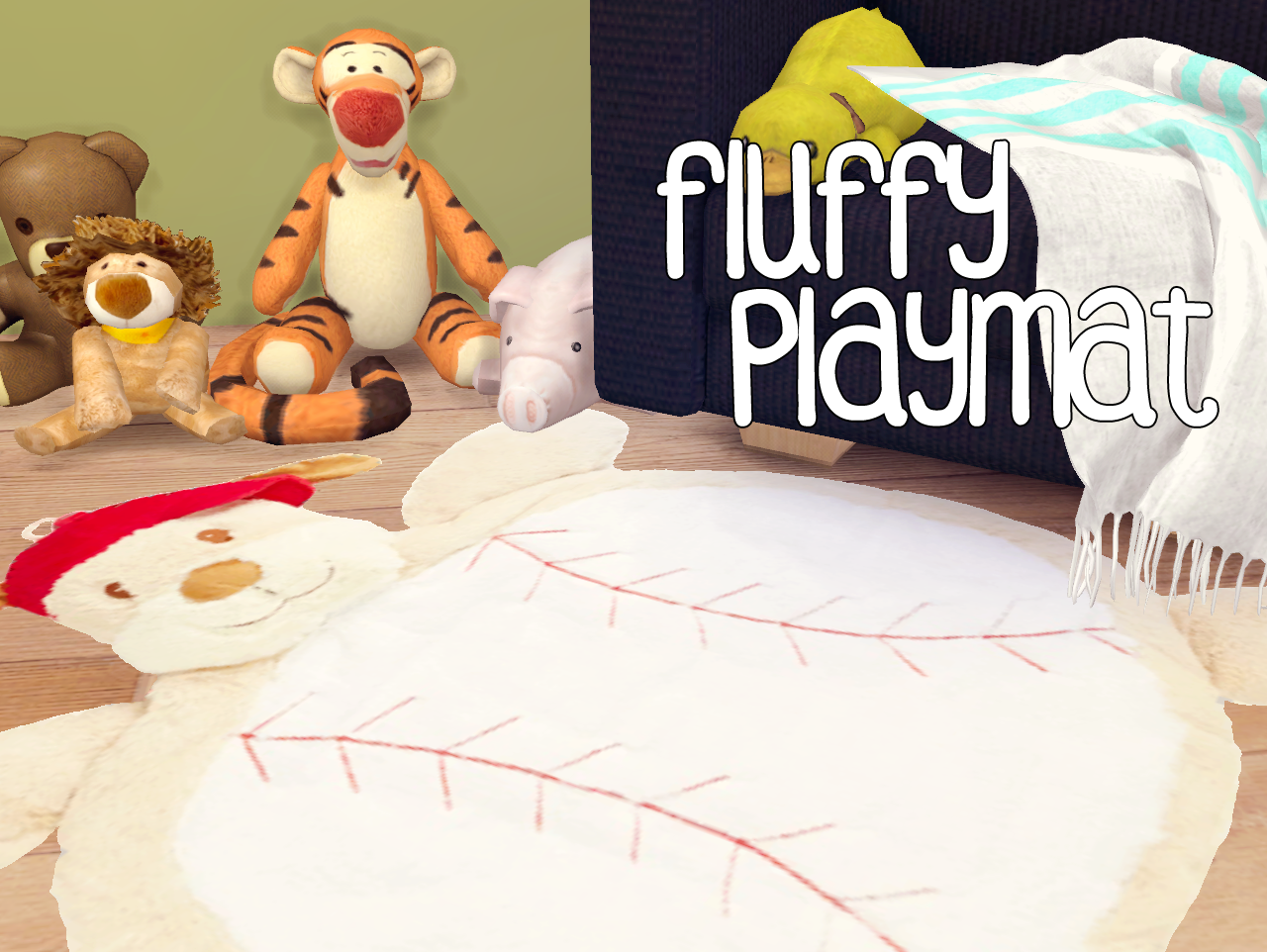 Fluffy Play Mats by AkaiSims