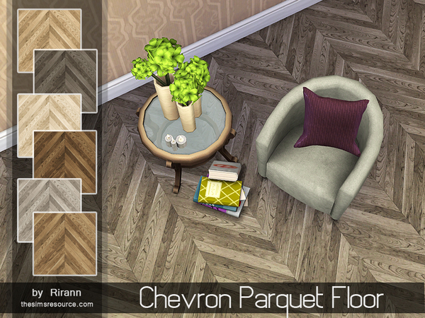 Chevron Parquet Floor by Rirann