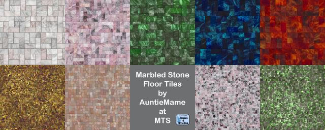Покрытия для пола Marbled Stone Tile Flooring by AuntieMame