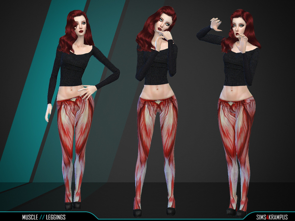 Muscle Leggings by SIms4Krampus