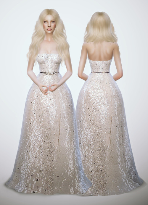 Zuhair Murad Spring 2015 - Glitter White Dress by FRS
