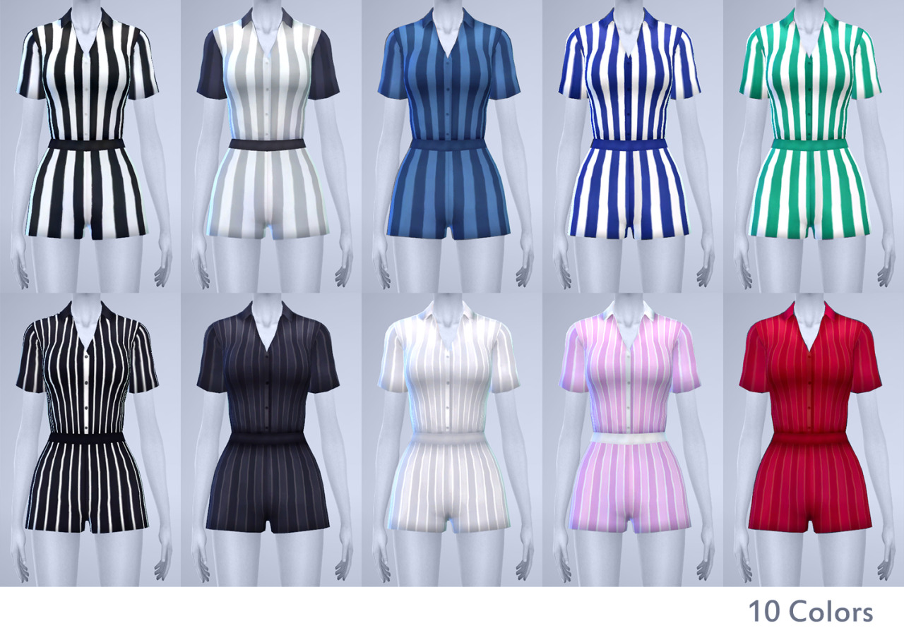 Coffee Time Vertical Striped Short Rompers in 10 Colors by Manueapinny