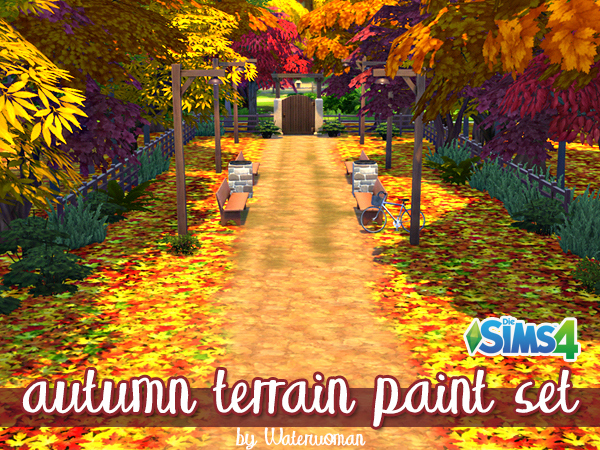 AUTUMN LEAFS TERRAIN PAINT by WATERWOMAN
