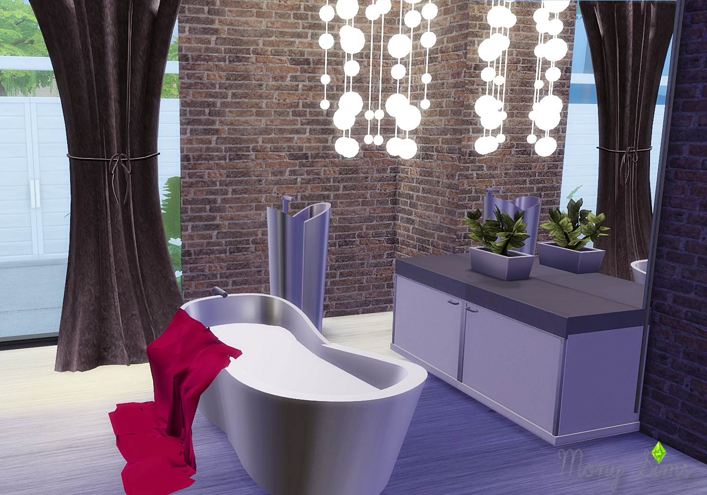 Lizzies Bathroom converso TS2 - TS4 by MONY SIMS