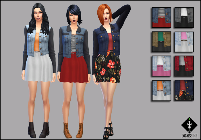 The Emotion Outfit for Teen - Elder Females by Jocker Sims