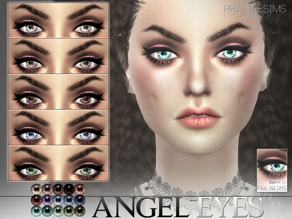 Angel Eyes  15 Colors / N22 by Pralinesims