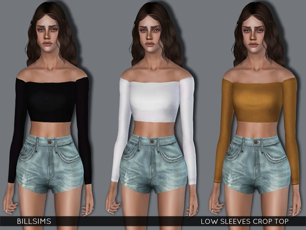 Low Sleeves Crop Top by Bill Sims