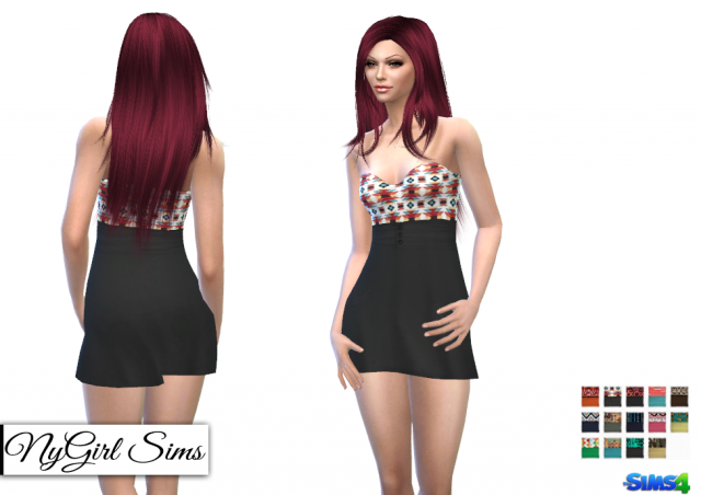 Strapless Tribal Mini Dress by NyGirl