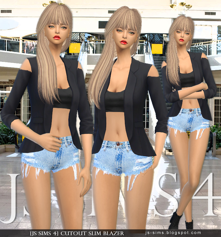 CUTOUT SLIM BLAZER by JS SIMS 4