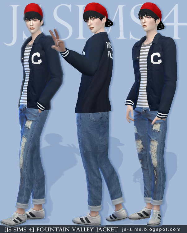 FOUNTAIN VALLEY JACKET by JS SIMS 4