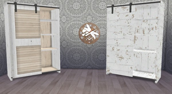 Anyes Rustic Living Armoire Recolors