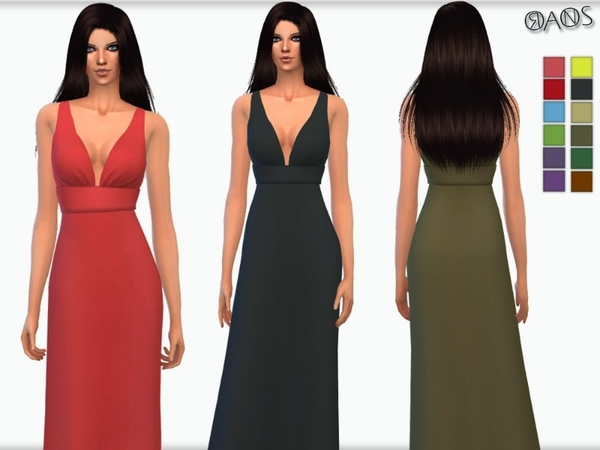 Scuba Low Plunge Fishtail Maxi Dress by OranosTR