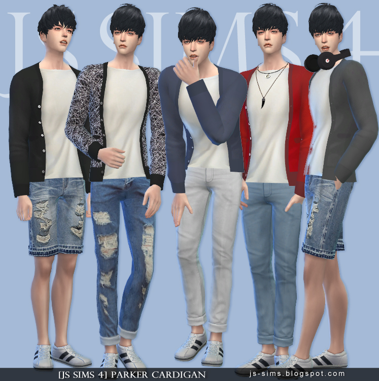 PARKER CARDIGAN by JS SIMS 4
