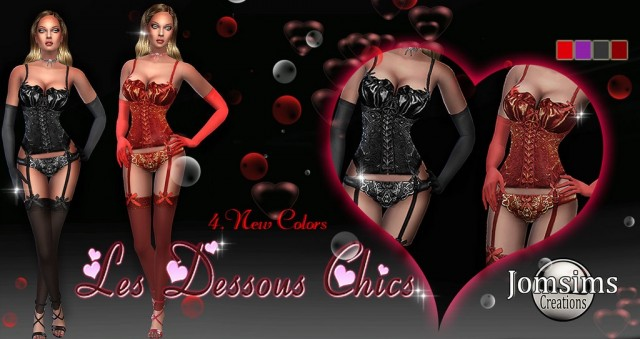 Нижнее белье les dessous chics 2 by JomSims
