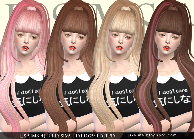 B-FLYSIMS HAIR029 RETEXTURE by JS SIMS 4