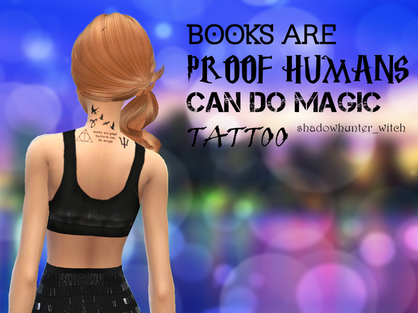 Books Are Proof Humans Can Do Magic Tattoo by shadowhunter_witch