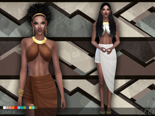 DRAPED SKIRT AND TOP by BEO
