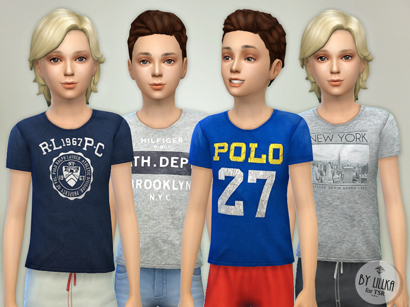 T- Shirt Collection for Boys P04 BY lillka
