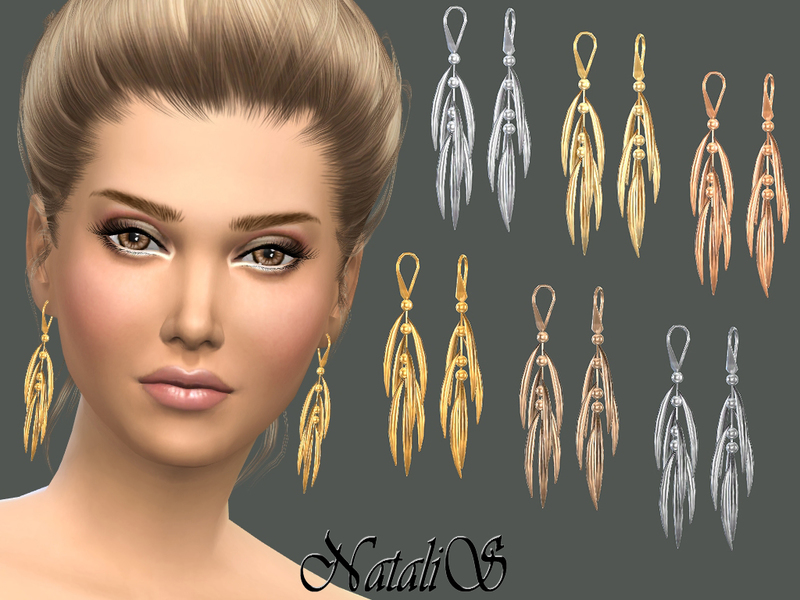 Thorn-like tassel earrings от NataliS