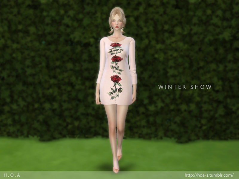 H . O . A THE ROSE HAND EMBROIDERED DRESS BY Syrenahoa