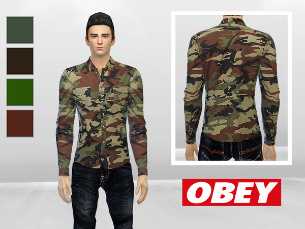 Field Assassin Camo Long Sleeve Shirt by McLayneSims
