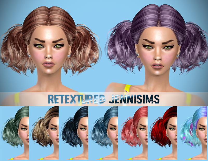 Butterflysims 88, Newsea Evergreen Hairs retextured by JenniSims