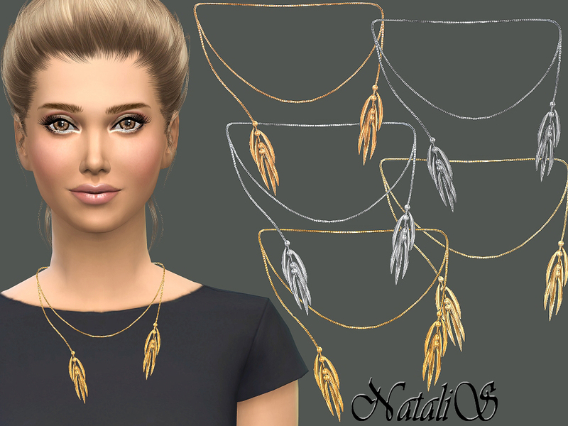 NataliS_Thorn-like tassel necklace