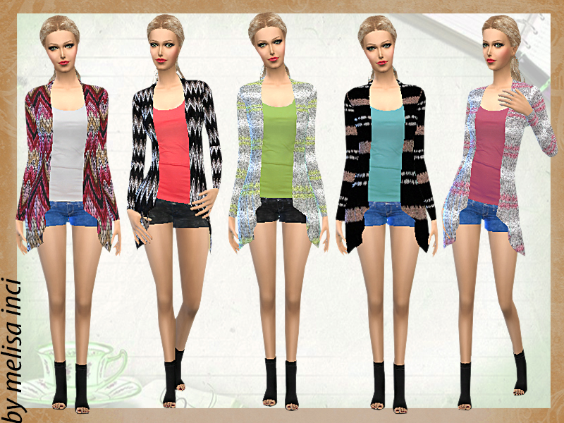 Cardigan Long Draped Outfit by melisa inci