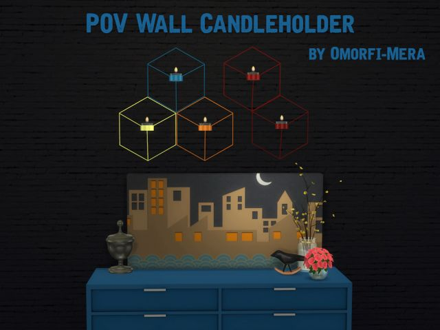 POV Wall Candle Holder by OmorfiMera