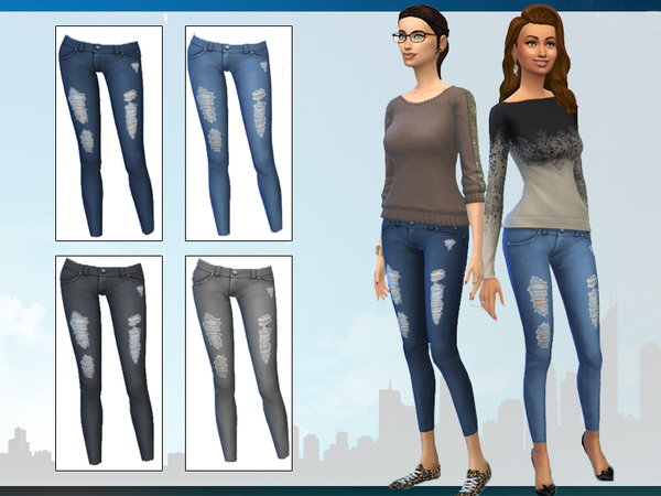 Maxis Match Skinny Jeans by wjewerica