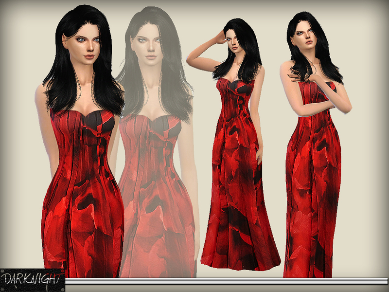 Printed Silk-Chiffon Gown by DarkNighTt