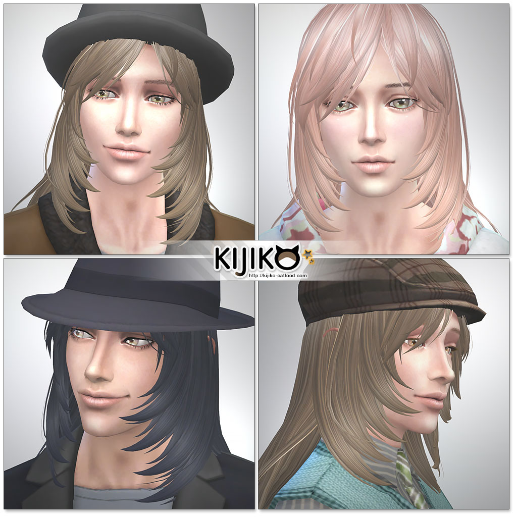 Kijiko Long Layered Hair for Males & Females