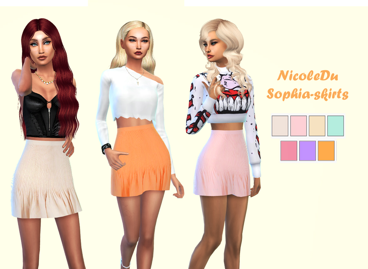 SOPHIA SKIRTS by NICOLEDU