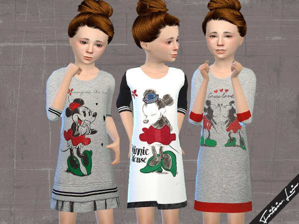 Fashion4Sims  Clothing, Female : Sweatshirt Dress