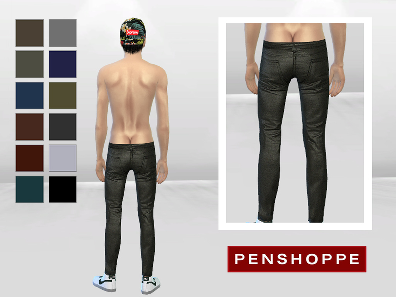 Korean Faux Leather Skinny Pants by McLayneSims