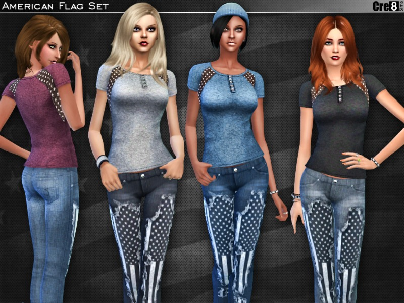 American Flag Set by Cre8Sims
