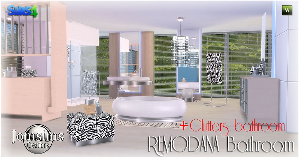 Remodana Bathroom and Clutter Set by JomSims