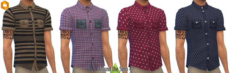 Shirts for Males by Sandy
