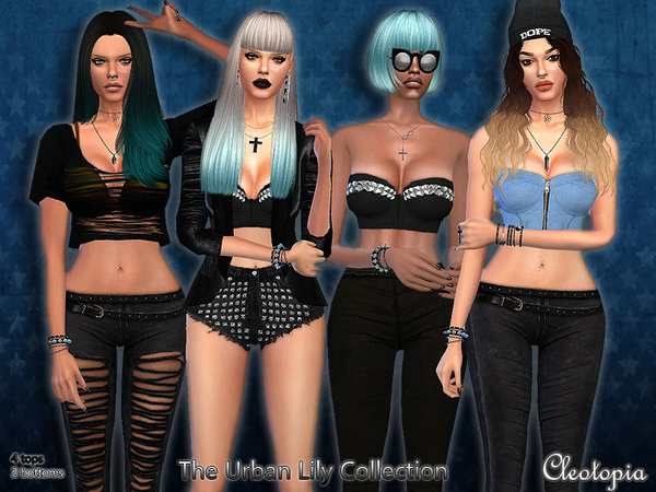 Set43- The Urban Lily Collection by Cleotopia