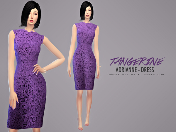 Adrianne - Dress (Oscar de la Renta) by tangerinesimblr